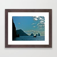 The Waters of the Amalfi Coast: Italy Framed Art Print
