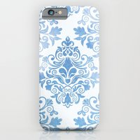 iPhone Cases featuring Blue Watercolor Pattern 04 by Aloke Design