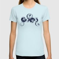 Yin & Yang Womens Fitted Tee Light Blue SMALL