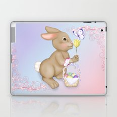 Brown Bunny and Basket Laptop & iPad Skin