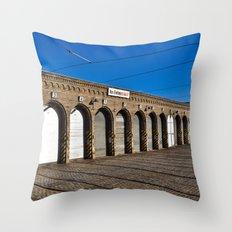 Old Tram Depot Of Berlin Throw Pillow