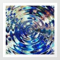 Water Element Ripple Pat… Art Print