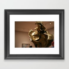 Unique Forms of Continuity in Space Framed Art Print