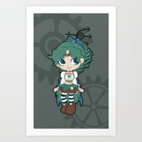 Steampunk Sailor Neptune… Art Print