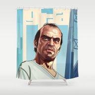 The Berserk , GTA 5 Trev… Shower Curtain