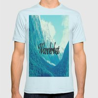 Wanderlust Mens Fitted Tee Light Blue SMALL