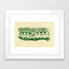Sad Row Framed Art Print