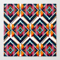 Hexagonic pattern Canvas Print