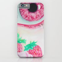iPhone & iPod Case featuring Strawberry Delight by May Shi