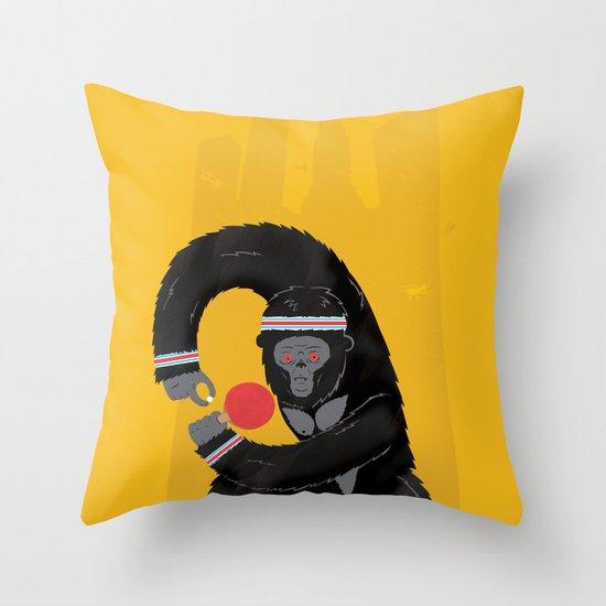 King Kong Ping Pong Throw Pillow