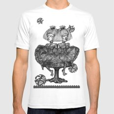 Gothic Twins Mens Fitted Tee White SMALL