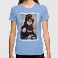Raven Girl Womens Fitted Tee Tri-Blue SMALL