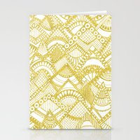 Golden Doodle mountains Stationery Cards
