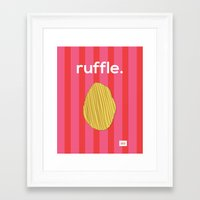 Ruffle Framed Art Print
