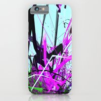 iPhone & iPod Case featuring the guardian asleep, a meteor struck the garden room, dabloon collection orchid by Lanny Quarles