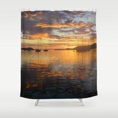 Sunrise on the Sea of Cortez. Shower Curtain