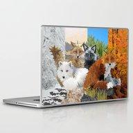 Four Shades Of Fox Laptop & iPad Skin