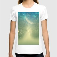 Mystical Forest Womens Fitted Tee White LARGE