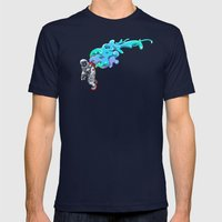 Moonwalk Mens Fitted Tee Navy SMALL