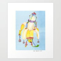 Banana Peeler Art Print
