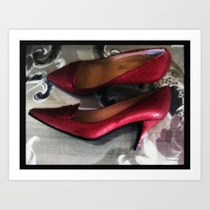 Shoes - Valentino Art Print
