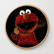 Elmo and Little Butterfly Wall Clock