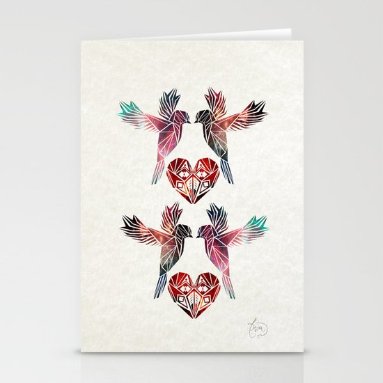 love birds Stationery Card