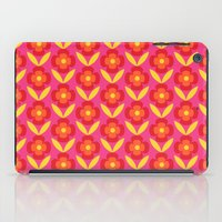 Retro happy bright floral 4 iPad Case