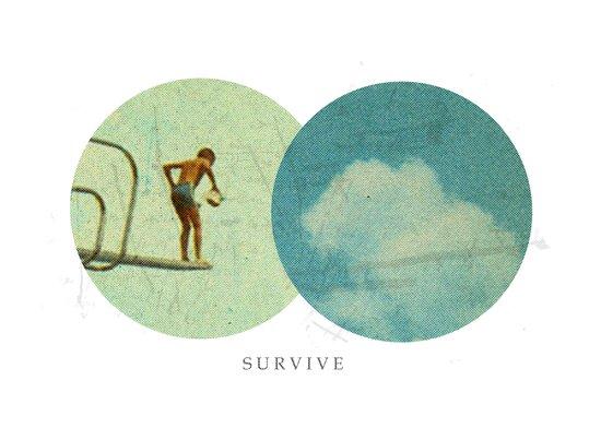 Survive | Collage Art Print