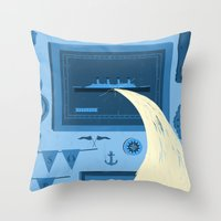 There's a leak Throw Pillow