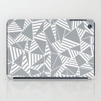 Abstract Lines B Grey iPad Case