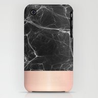 Black Marble And Pink  iPhone (3g, 3gs) Slim Case