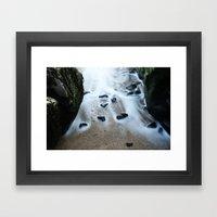 beach stones Framed Art Print