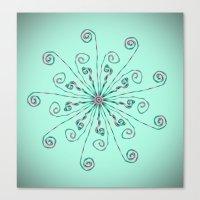 Minimalist flower mandala Canvas Print
