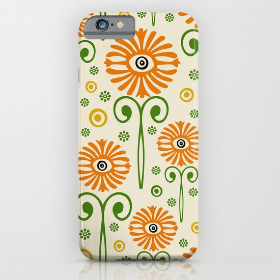 Retro Sunflower Pattern - Susan Weller iPhone & iPod Case