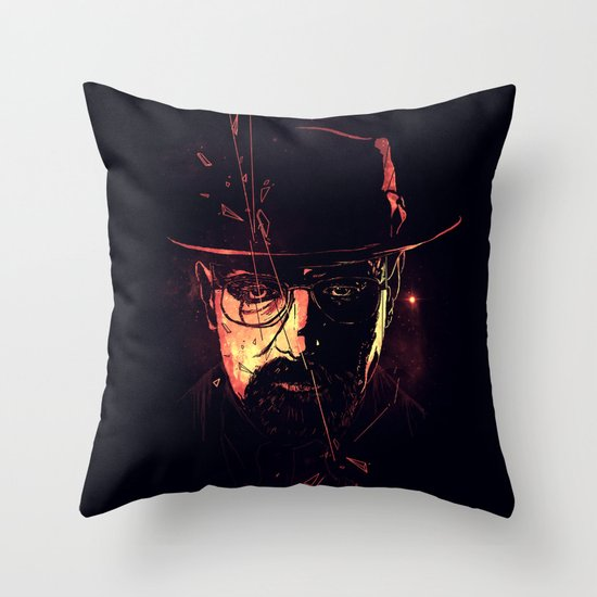 Mr. White Throw Pillow