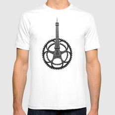 Le Tour de France Mens Fitted Tee White SMALL