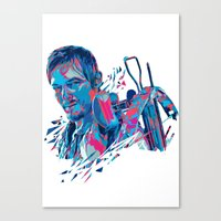 Daryl Dixon // OUT/CAST Canvas Print