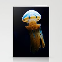 golden jellyfish  Stationery Cards