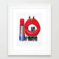Lipstick Jungle Framed Art Print