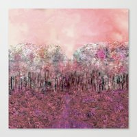 A Parade of Carnations & Roses Canvas Print