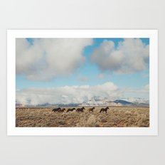 Running Reservation Hors… Art Print