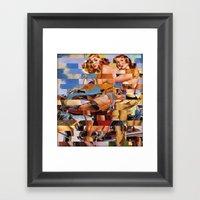Glitch Pin-Up Redux: Zel… Framed Art Print