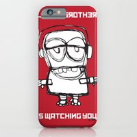 iPhone & iPod Case featuring Little Brother is Watching You. by Trevor Bittinger