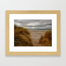 Bamburgh Beach Framed Art Print