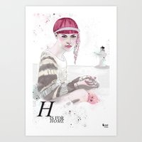 H Is For Home Art Print