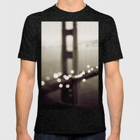 Meet Me In San Francisco (Black and White Edition)  Mens Fitted Tee Tri-Black SMALL