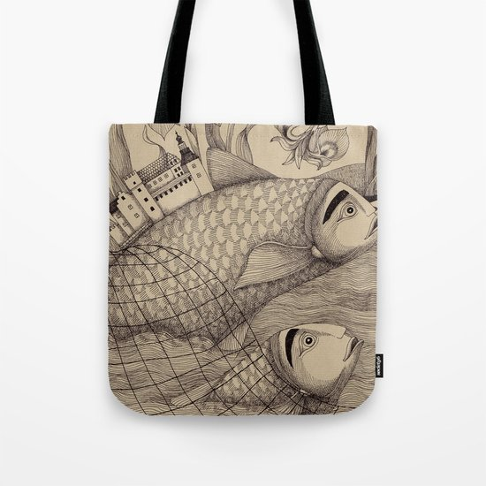 The Golden Fish (1) Tote Bag