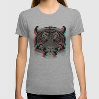 Tiger Womens Fitted Tee Athletic Grey SMALL