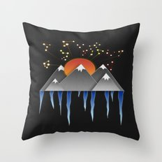 Warm Sun With A Cold Climate Throw Pillow